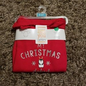 "Carter's ""My First Christmas Debut"" Bodysuit"
